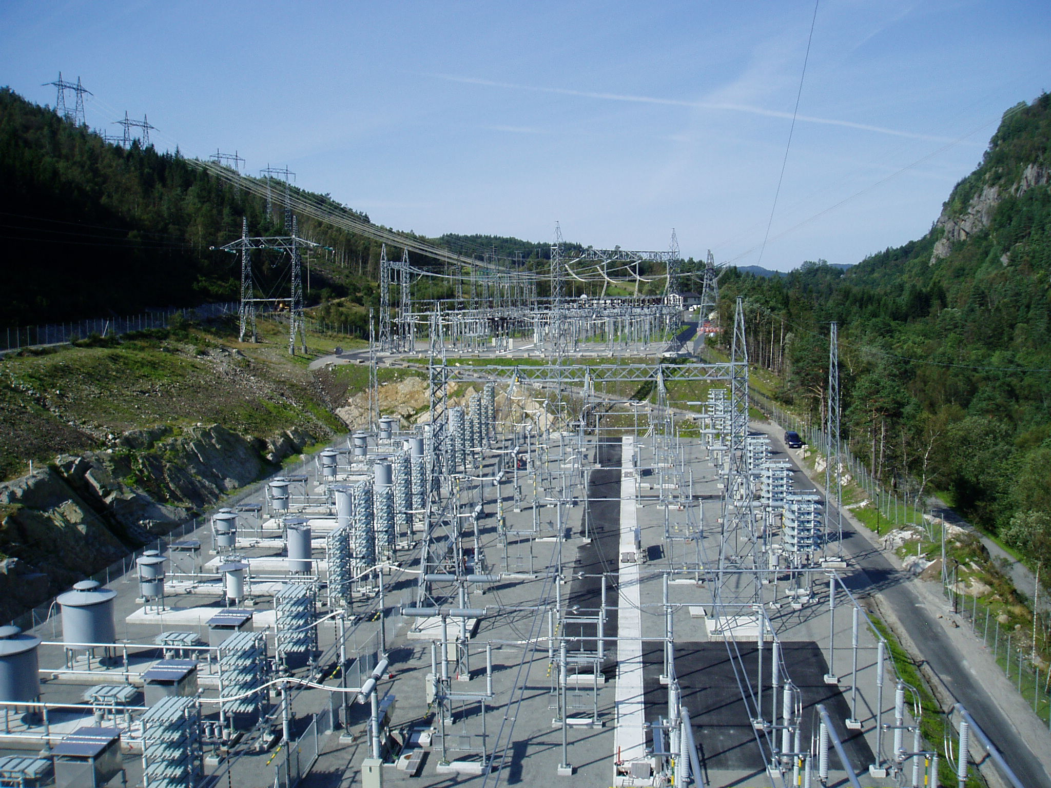 AC Filter Yard of an HVDC Converter Station